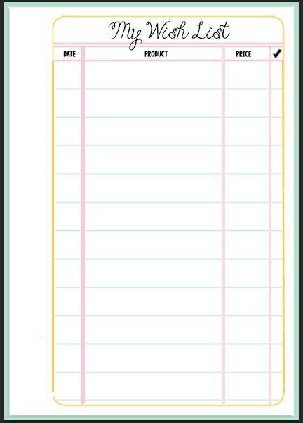 Filofax Wish List Printable Wendaful Planning