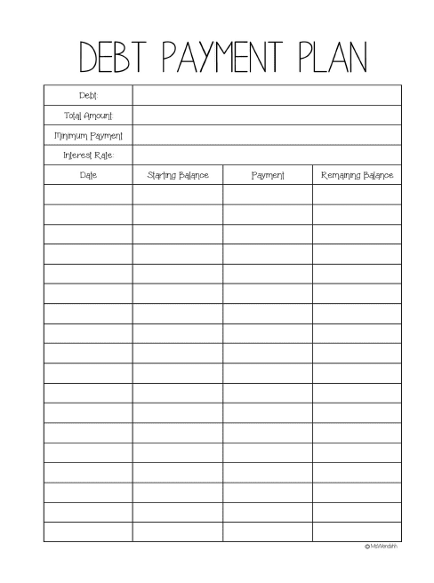 budget planner monthly