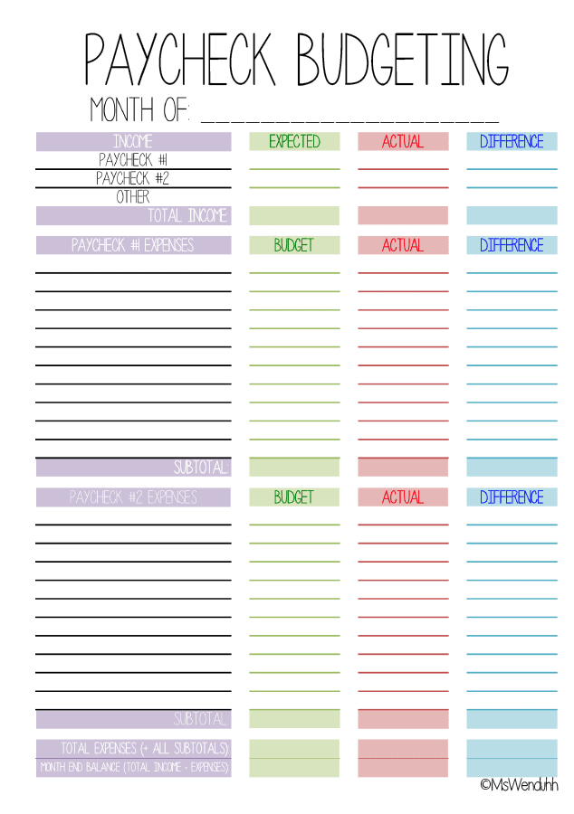 i have made yet another budgeting printable the monthly one was too hard for me to keep track of the actual expenses for the whole month hopefully this