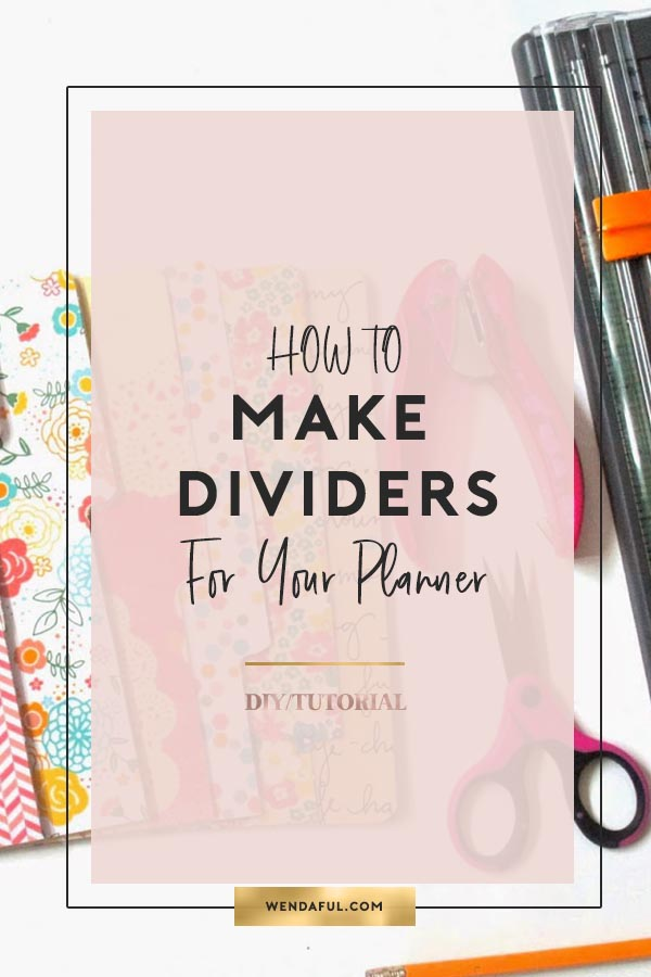 Planner Dividers Template