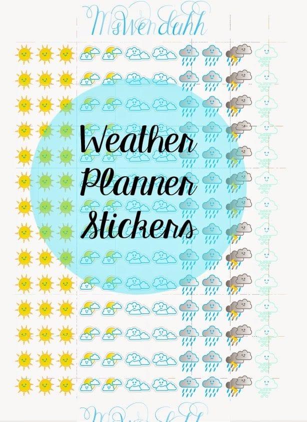 Wendaful Printable Stickers Planners