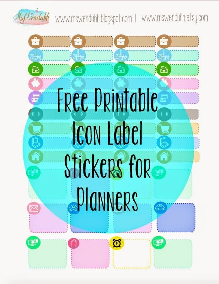 free printable stickers icon labels for planning
