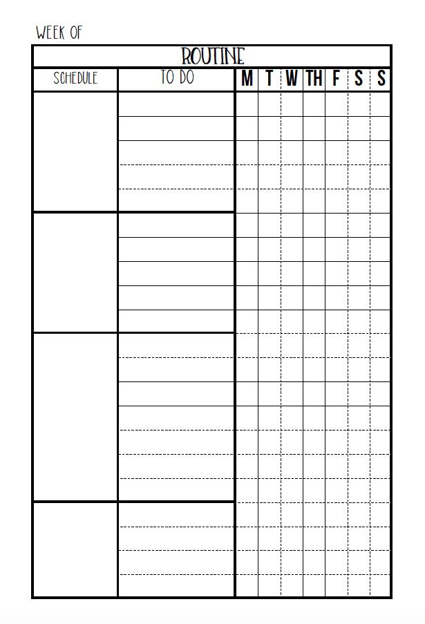 Editable Routine Checklist & Daily Planner Printable
