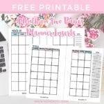 Wendaful Printable Inserts | Planner Refills