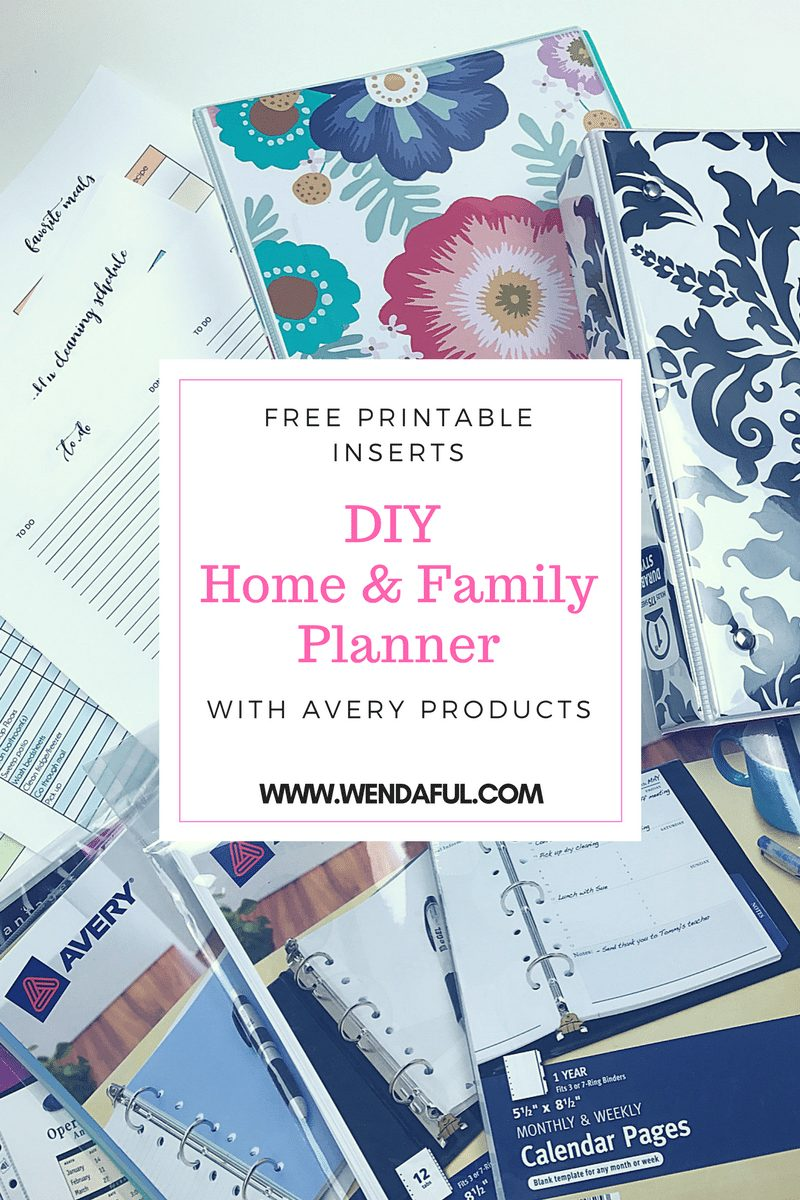 today i am sharing with you how to make your very own home family planner this diy planner is super affordable since most of the items are from avery and